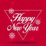 Grußkarte des neuen Jahres Guten Rutsch ins Neue Jahr 2016, Vektorillustration Stockfotografie