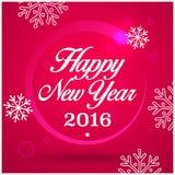 Grußkarte des neuen Jahres Guten Rutsch ins Neue Jahr 2016, Vektorillustration Lizenzfreie Stockfotos