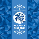 Grußkarte des neuen Jahres mit Schafen Stockbilder