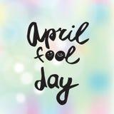 Grußkarte des Tages des Aprilscherzes stockfotos