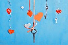 Grußkarte des Valentinsgrußes oder Hochzeits Stockfotos