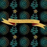 Grußkarte des Vektors nahtlose Weihnachts Stockfotografie