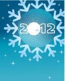 Grußkarte für 2012 Stockfotografie