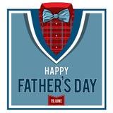 Grußkarte für den Tag des Vaters Lizenzfreie Stockfotografie