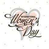 Grußkarte für Feier der Frauen Tages Lizenzfreies Stockbild