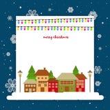 Grußkarte für Feier der frohen Weihnachten stock abbildung