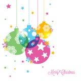 Grußkarte für Feier der frohen Weihnachten vektor abbildung