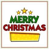 Grußkarte für Feier der frohen Weihnachten lizenzfreie abbildung