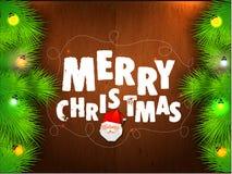 Grußkarte für Feier der frohen Weihnachten Lizenzfreies Stockbild