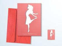 Grußkarte für Feier der internationalen Frauen Tages Lizenzfreies Stockfoto