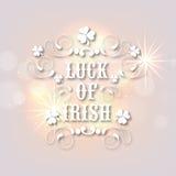 Grußkarte für glücklichen St Patrick Tagesfeier Lizenzfreie Stockfotos