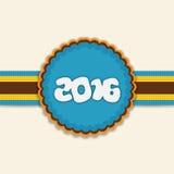 Grußkarte für guten Rutsch ins Neue Jahr 2016 Stockfoto