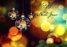 Grußkarte für neues Jahr lizenzfreies stockbild