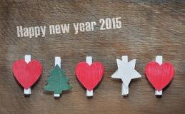 Grußkarte für neues Jahr 2015 Stockbilder