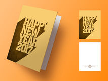 Grußkarte für neues Jahr 2017 Lizenzfreie Stockbilder
