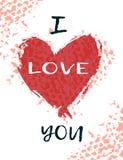 Grußkarte für Tag St.-Valentinsgruß-s Eine junge Frau in ihrer Unterwäsche Stockbild