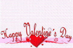 Grußkarte für Valentinstag Stockbild