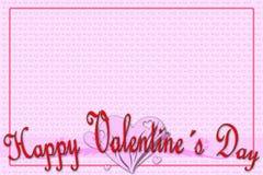 Grußkarte für Valentinstag Stockfotos