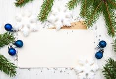 Grußkarte für Weihnachten Stockbilder