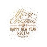 Grußkarte für Weihnachten und guten Rutsch ins Neue Jahr lizenzfreie abbildung