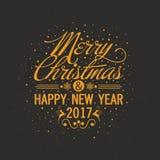 Grußkarte für Weihnachten und guten Rutsch ins Neue Jahr stock abbildung