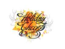 Grußkarte für Weihnachten und neues Jahr Lizenzfreie Stockfotografie