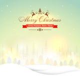 Grußkarte für Weihnachten und neues Jahr lizenzfreie abbildung