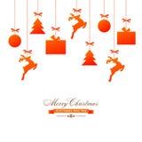 Grußkarte für Weihnachts- und des neuen Jahresfeier stock abbildung