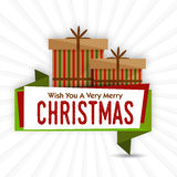 Grußkarte für Weihnachtsfeier stock abbildung