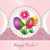 Grußkarte fröhliche Ostern Stockbilder