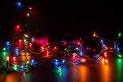 Grußkarte frohe Weihnachten Stockfotos
