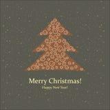 Grußkarte. Frohe Weihnachten und neues Jahr. Stockbild