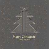 Grußkarte. Frohe Weihnachten und neues Jahr. Lizenzfreie Stockfotos