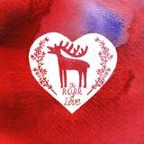 Grußkarte glücklicher Valentinstag Stockfoto