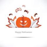 Grußkarte glückliches Halloween Stockfotografie