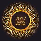 Grußkarte guten Rutsch ins Neue Jahr 2017 Lizenzfreies Stockbild