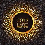 Grußkarte guten Rutsch ins Neue Jahr 2017 Stockbild