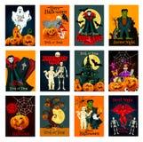 Grußkarte Halloween-Feiertags Süßes sonst gibt's Saures Stockfotos