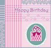 Grußkarte mit alles Gute zum Geburtstag lizenzfreie abbildung