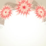 Grußkarte mit Blumen Stockfotografie