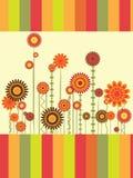 Grußkarte mit Blumen Stockbild