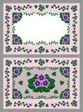 Grußkarte mit Blumendekoration Lizenzfreie Stockfotografie