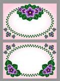 Grußkarte mit Blumendekoration Stockfotos