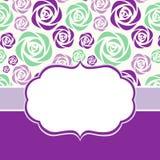 Grußkarte mit Blumenhintergrund Stockbild