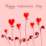 Grußkarte mit glücklichem Valentinstag Stockfotos