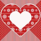 Grußkarte mit Herzen, nordische Art Stockfoto
