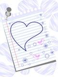 Grußkarte mit lustige Hand gezeichneten Elementen. Lizenzfreie Stockbilder