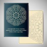Grußkarte mit Mandala Lizenzfreie Stockfotografie