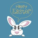 Grußkarte mit mit Ostern-Kaninchen Lizenzfreie Stockbilder