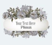 Grußkarte mit Pastellmohnblumenweinlese Stockfoto